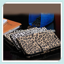 Hot selling credit card slot leather wallet phone case for samsung note3