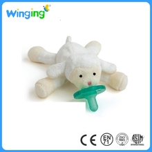 alibaba hot sale baby toy facry plush pacifier/plush toy with pacifier