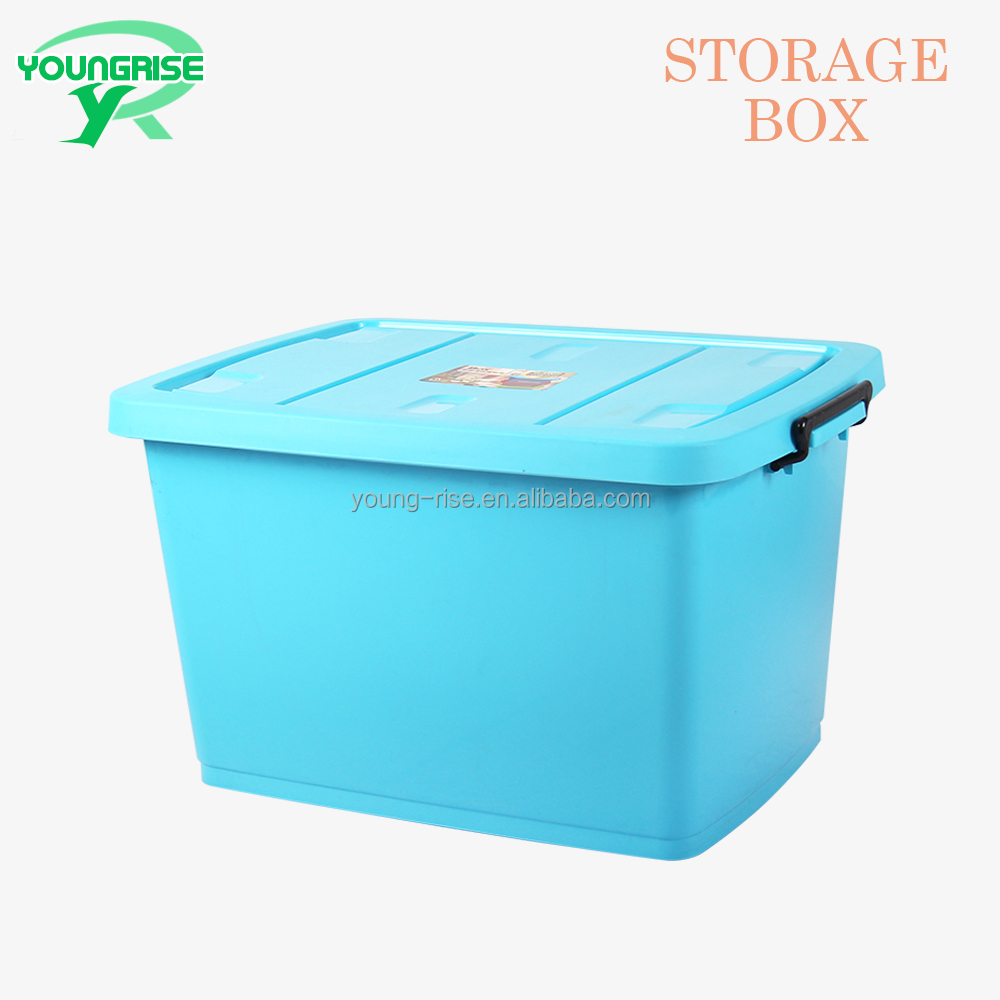 Wholesale Portable Plastic Clothing Storage Organizer Box Storage Container Bin With Lid