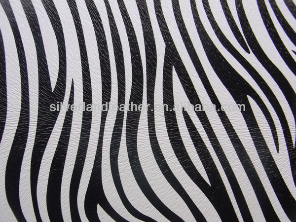zebra design furniture leather material for chair