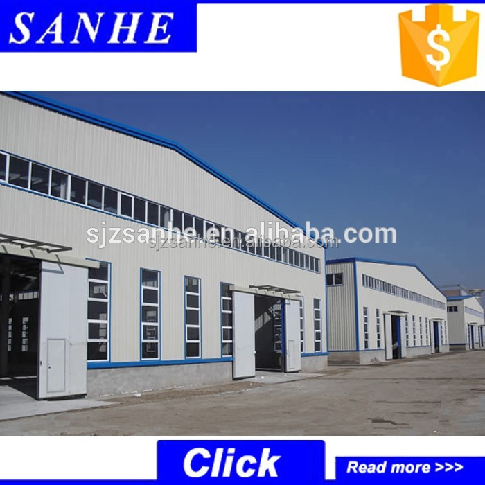 China suppliers prefabricated free designed light steel structure workshop/warehouse/plant/industrial shed