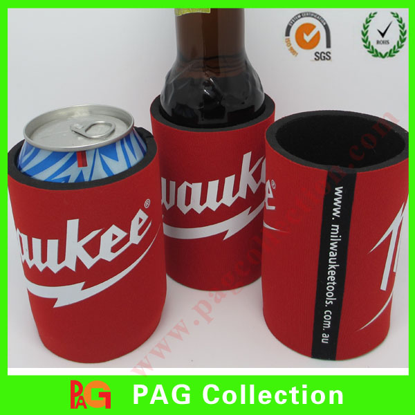 2016 330ml 12oz Customized Promotional Neoprene foam Beer bottle Stubbie Holder with sublimation and screen print for wholesale