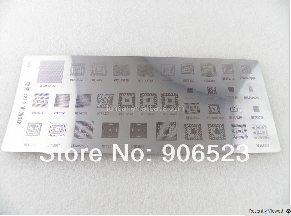free shipping 5pcs/lot New 35 in 1 UD-A90 mobile phone reball stencils template IC soldering plate for MTK