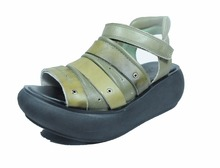 Women Shoes Genuine Leather with platform outsole lady sandal