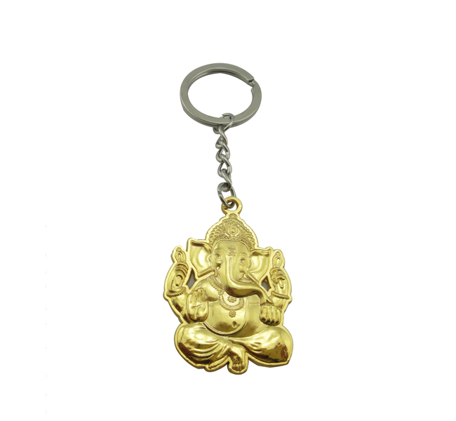 India Buddhism elephant metal gold key chain with logo