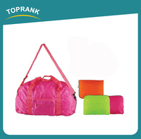 TOPRANK SGS approval new style custom logo printing polyester men travel foldable bag organization bag