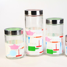 Fancy Airtight Canning Glass Storage Jars Bulk Sealable Glass Jar