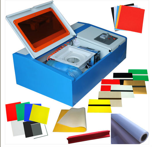 hoppy mini portable 40w laser cutting machine rubber stamp price