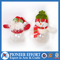 Christmas felt santa and snowman toy table decoration