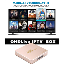 A96Gold with 1year QHDlive IPTV free for channels arabic French germany USA UK Brazil India Pakistan iran cheap iptv set top box