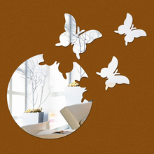 wholesale gold silver black color cartoon animal mirror wall sticker for decoration hose