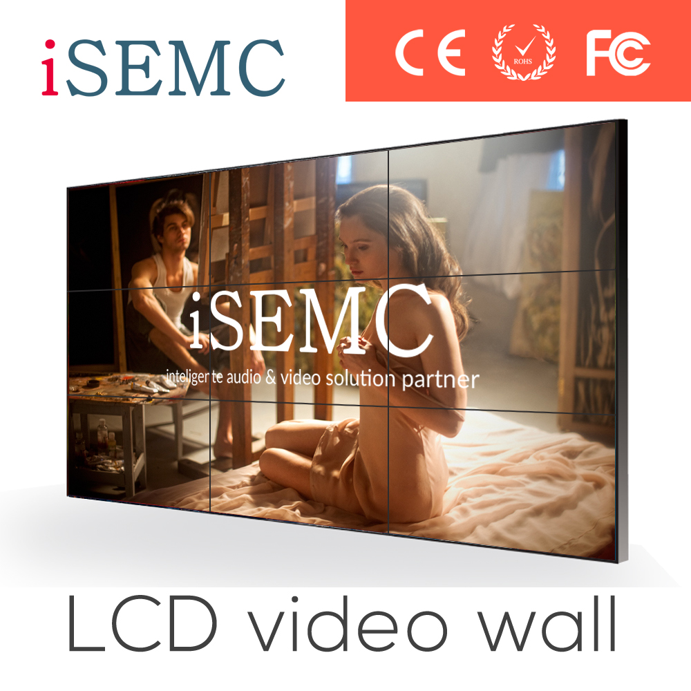 Shenzhen CCTV security ultra slim 52 led tv IPS video wall free software