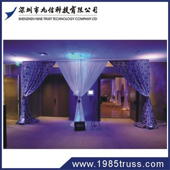 beautiful Pipe and drapes used in wedding hall