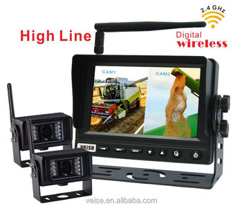 2.4G Wireless Rear View Car Reverse Backup Parking Night Vision Camera For Buses