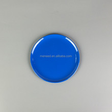 Wholesale plastic melamine charger plate for weddings in blue color