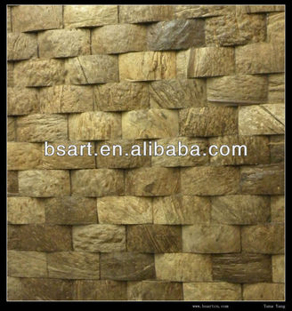 Decoration wall natural coconut mosaic