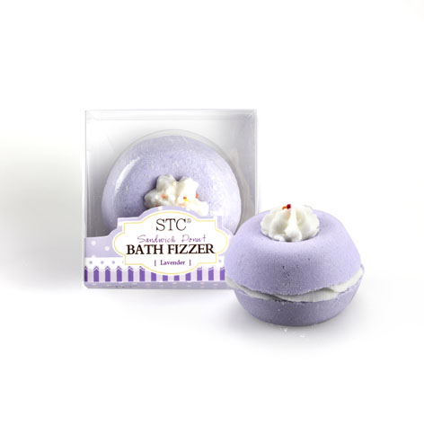 Handmade white bath fizzer bombs good for spa