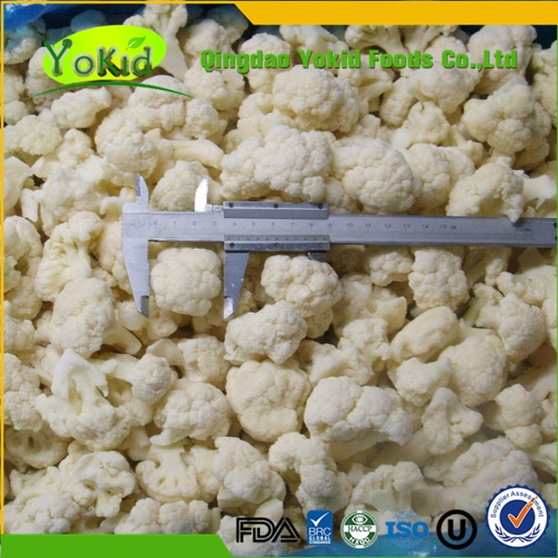 Passed BRC Good Taste IQF Frozen cauliflower