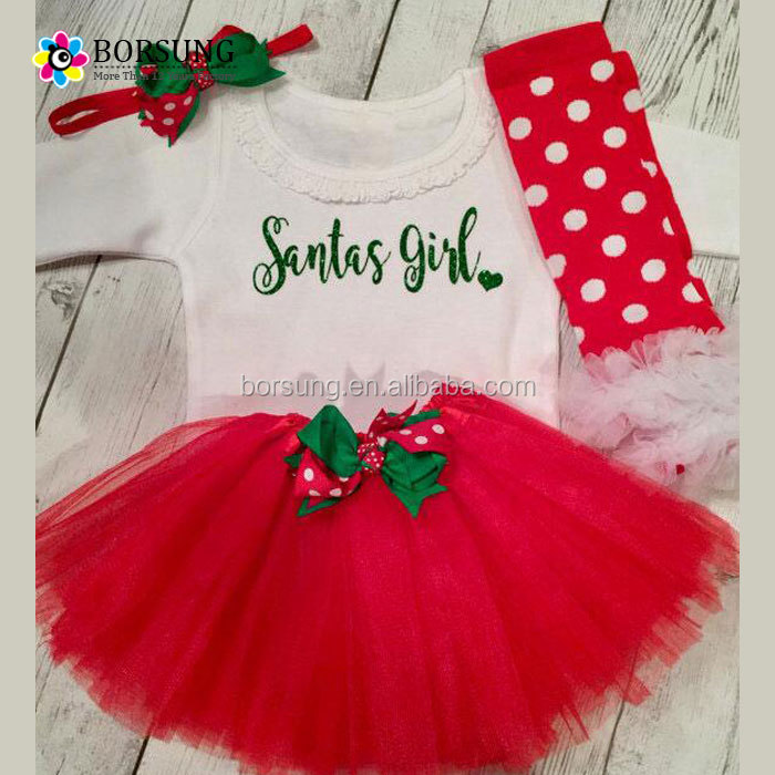 Christmas Style Children Clothes Kids Cute tutu tulle skirt Set for partty wear girls dress