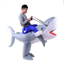 2018 Wholesale factory direct sell inflatable funny mascot shark toy costume for kids