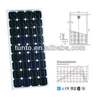 Cheapest price of 100W monocrystalline solar panel, PV module, TUV, IEC, CE, CEC certified
