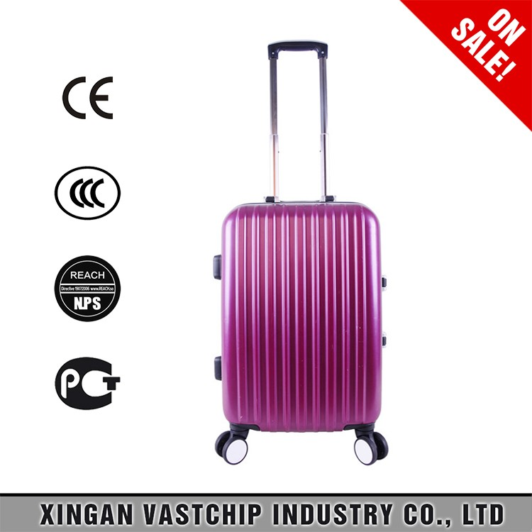 Luxury luggage of 24 inch Suitcase Type and External Caster plastic cover for travel suitcase