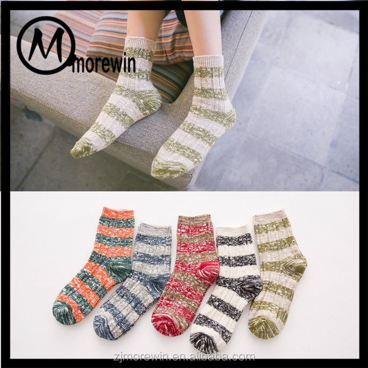 Morewin Sock Colorful Pretty Girls Middle Tube Socks Classic Cotton Sock Woman