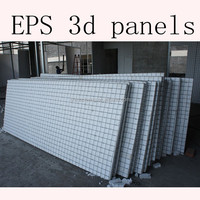 3D reinforced welded wire mesh foam panels for construction building materials