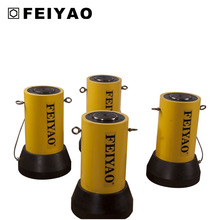 Hydraulic jack for construction double acting high tonnage hydraulic cylinder