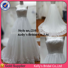 Unique design ball gown strapless puffy wedding dress Floor-Length Hemline and Satin Fabric Type sleeveless princes wedding gown
