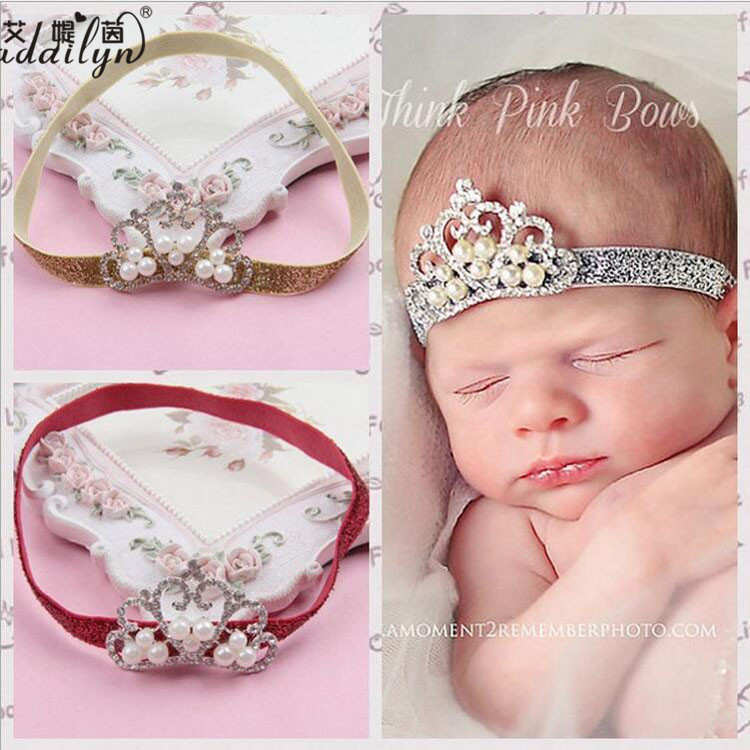 High-Grade Princess Crown for Girls,Baby Pearl Crown