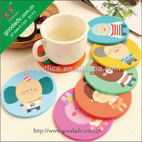 Guangzhou cheap promotion personalized plastic soft pvc coaster