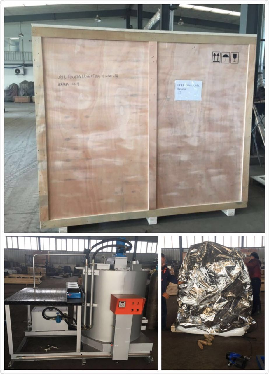 Hydraulic automatic temperature control Double-Cylinder Thermoplastic pre-heater, thermoplastic paints melting machine