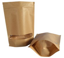 Eco-friendly Kraft paper bag, zipper kraft paper bag,reusable kraft paper bag food packaging