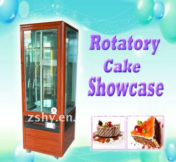 Rotatable Cake Cabinet with glass arounded