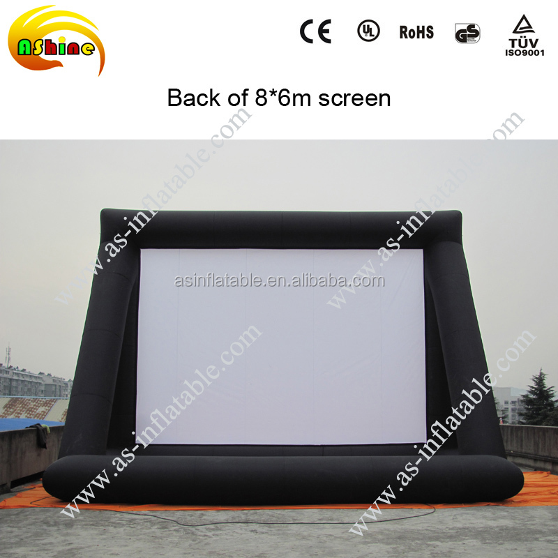 top sale outdoor giant advertising cinema rear projection inflatable movie screen for sale