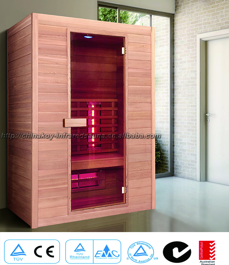 2016 Canada red cedar far infrared sauna room for 2 person 02-K5