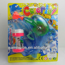 hot sell electric flash music dolphin bubble gun