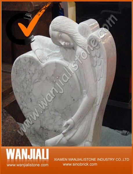 Granite Tombstone Design With Pine Decoration