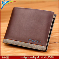 Latest unique young man fan clutch purses Classical Pidengbao branded male money clip case