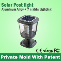 High Quality Unique Automatic Golden Sun Solar Light Parts