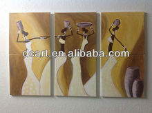 Wholesale Handmade Art Painting With 3 Panels Figurative