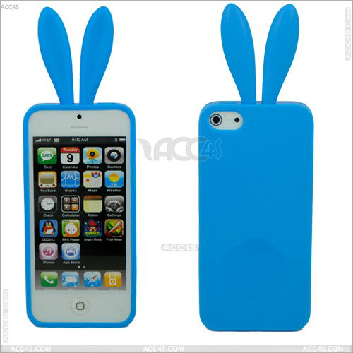 Rabbit tpu case cover animal silicone for iphone 5 case P-IPH5TPU044