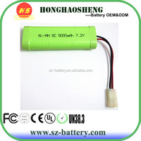 hot sale best price rechargeable 7.2v 4000mah ni-mh battery pack for 727 high-speed car battery, 7 series remote control boat