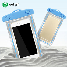 Hot selling new fashion outdoor equipment PVC TPU luminous waterproof cell phone case