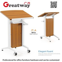 Guangzhou conference room wooden spk furniture lectern pulpit