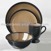 16 pcs ceramic double color dinner set