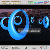 Garden use round led glow plastic swing for baby