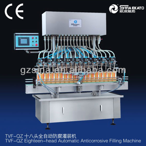 Sina ekato the newest anti-corrosive liquid bottle filler machine, bleach filler
