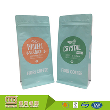 China Supplier Heal Seal Food Grade Packaging Side Gusset Stand Up 1lb Green Coffee Tea Bags